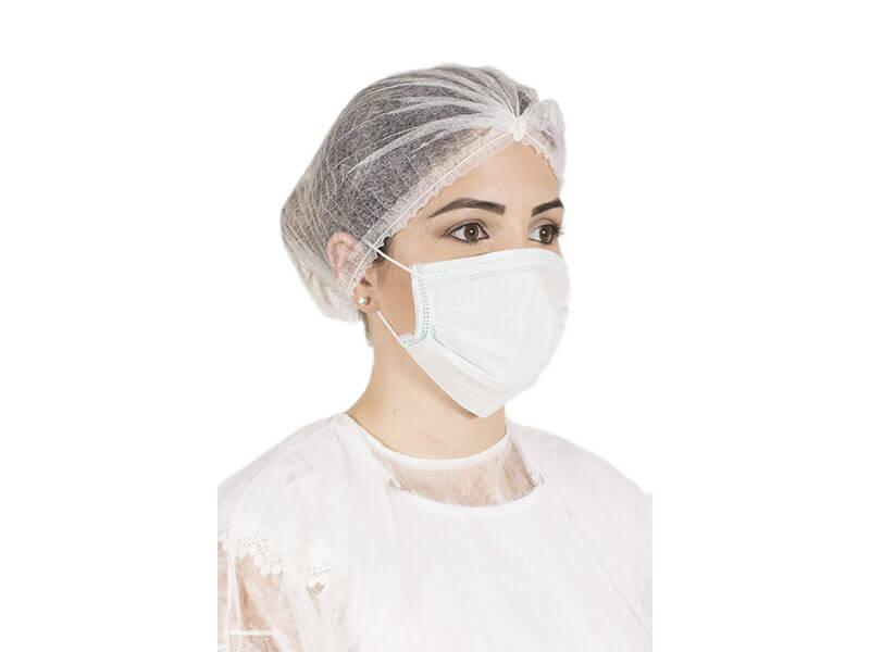 Mascara Tripla Descartável Com Elástico Eurodesck